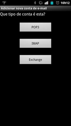Selecione IMAP