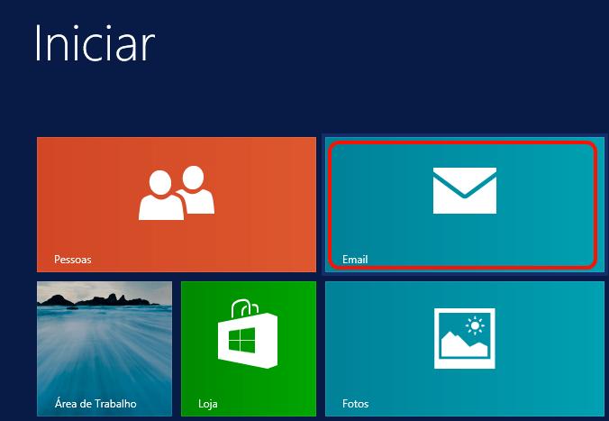 Clique no ícone 'Email'